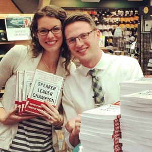 My wife and I during our World Record attempting for breaking the largest book signing event in history (5,000 books in 10 hours)!