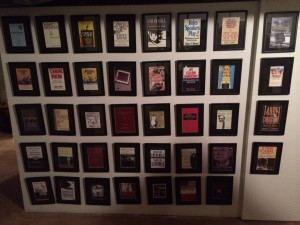 Here are the framed front covers for most of the books Mr. Humes has written!
