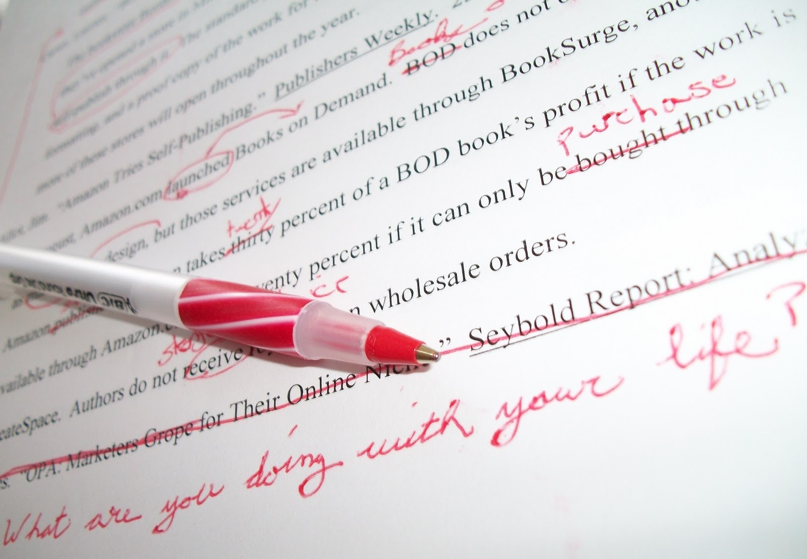 Proofreading your essay