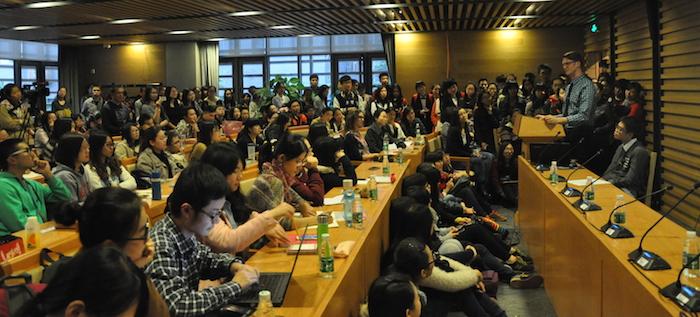 Ryan Avery speaking in China