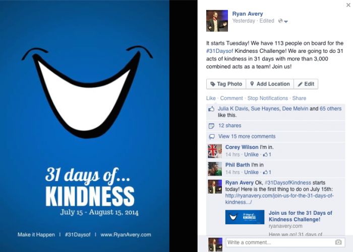 31 Days of Kindness with Ryan Avery